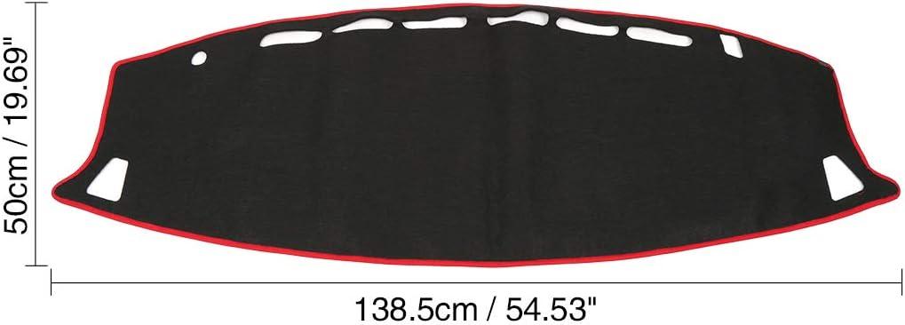 uxcell Car Black Dash Sun Cover Dashboard Mat Carpet for Nissan Altima 03-08