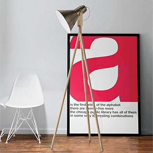 LIURONG Dreieck-Stehlampe, Wohnzimmer Schlafzimmer Buch Stehleuchte Nordic Einfache Moderne Moderne Moderne Retro Grünikale Stehleuchte (Farbe   A) B07DZY28JF   Ausreichende Versorgung  bea126