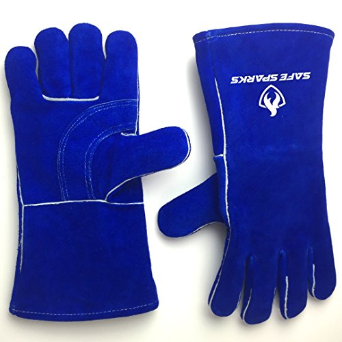 Safe Sparks Heat Resistant - Reinforced Palm with Kevlar Stitching Welding Leather Glove