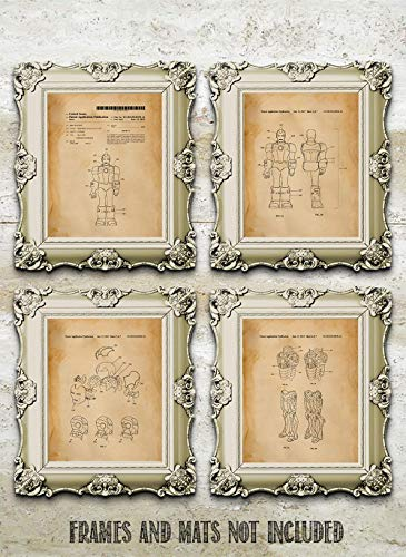 Iron Man - Set of Four (8 x 10) Unframed Patent Print - Great Gift for the  Marvel Avengers Fan or Superhero in Your Life