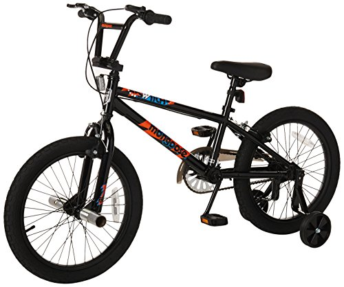 Mongoose Switch Children's BMX Sidewalk Bike, Featuring 12-Inch/Small Steel Frame, Front and Rear Handbrakes with Rear Coaster Brake, and 18-Inch Wheels, Removable Training Wheels Included, Black (Best Starter Pokemon In Black And White 2)