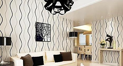 Pareti A Strisce Bianco E Nero : Weaeo semplificata moderno bianco e nero strisce verticali tessuto