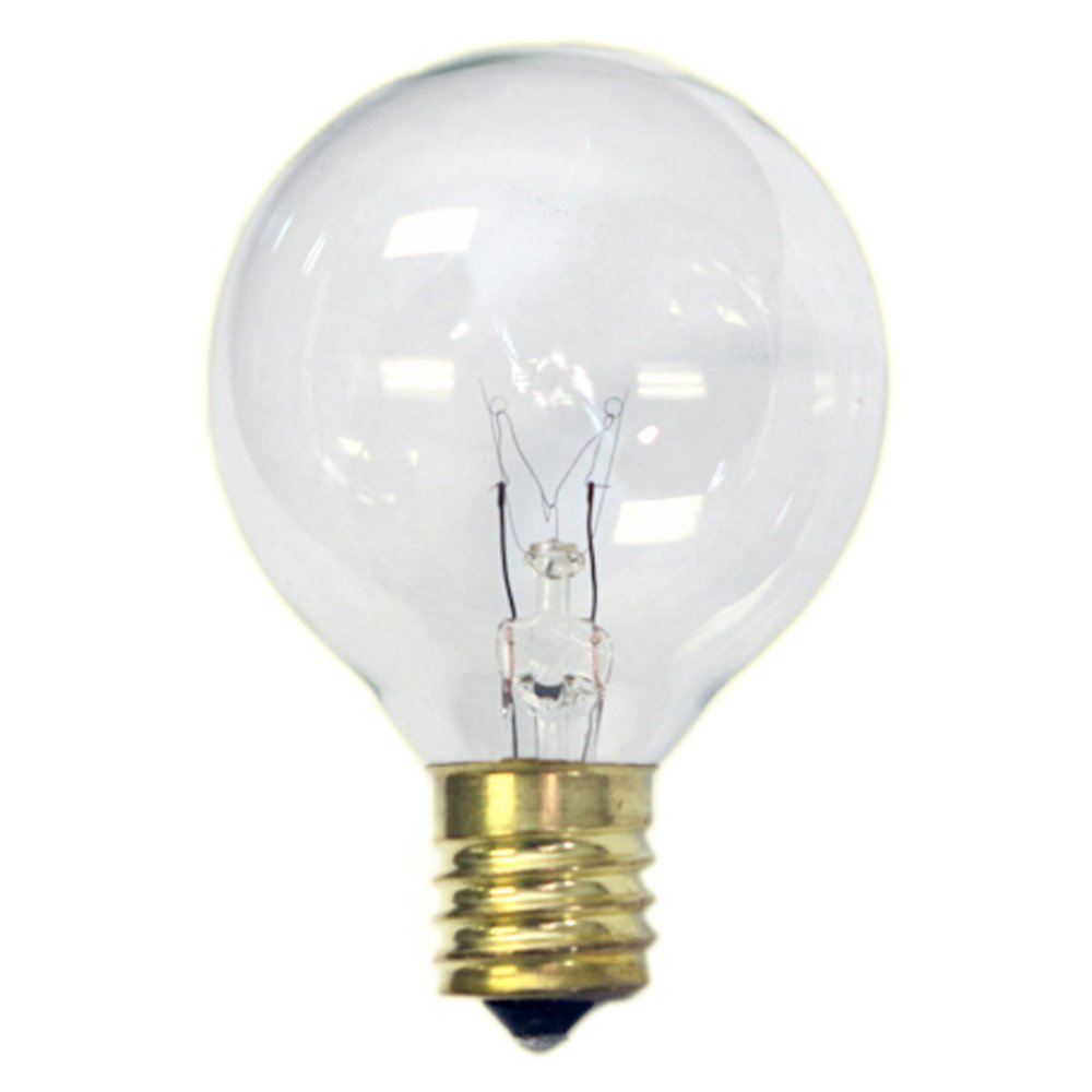 Replacement Globe Light Bulb G50 7w 130v E17 Base Clear 25 Pack Ebay