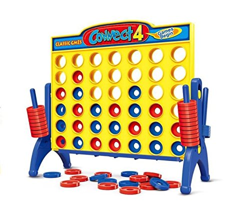 Connect 4 game for Kids fun game - 9.4 x 6.8 x 1.7 in
