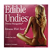 Bundle package 1 Edible Undies For Women -Straw Champagne AND 1 Swiss Navy Toy & Body Cleaner Pen 7.5ml