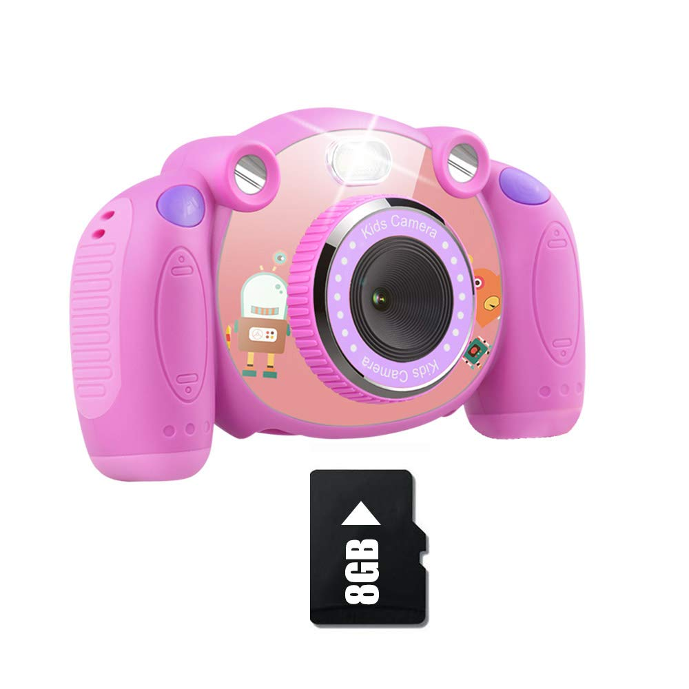 denicer Kids Camera Children Camcorders HD 2 Inch Screen with Mic, SD Card Non-Slip and Anti-Drop Design Children's Camera Taking Videos and Photos for Girls & Boys Birthday Gift