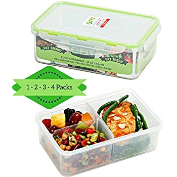 bento box meal prep container 1 38 oz bento lunch box food storage containers. Black Bedroom Furniture Sets. Home Design Ideas