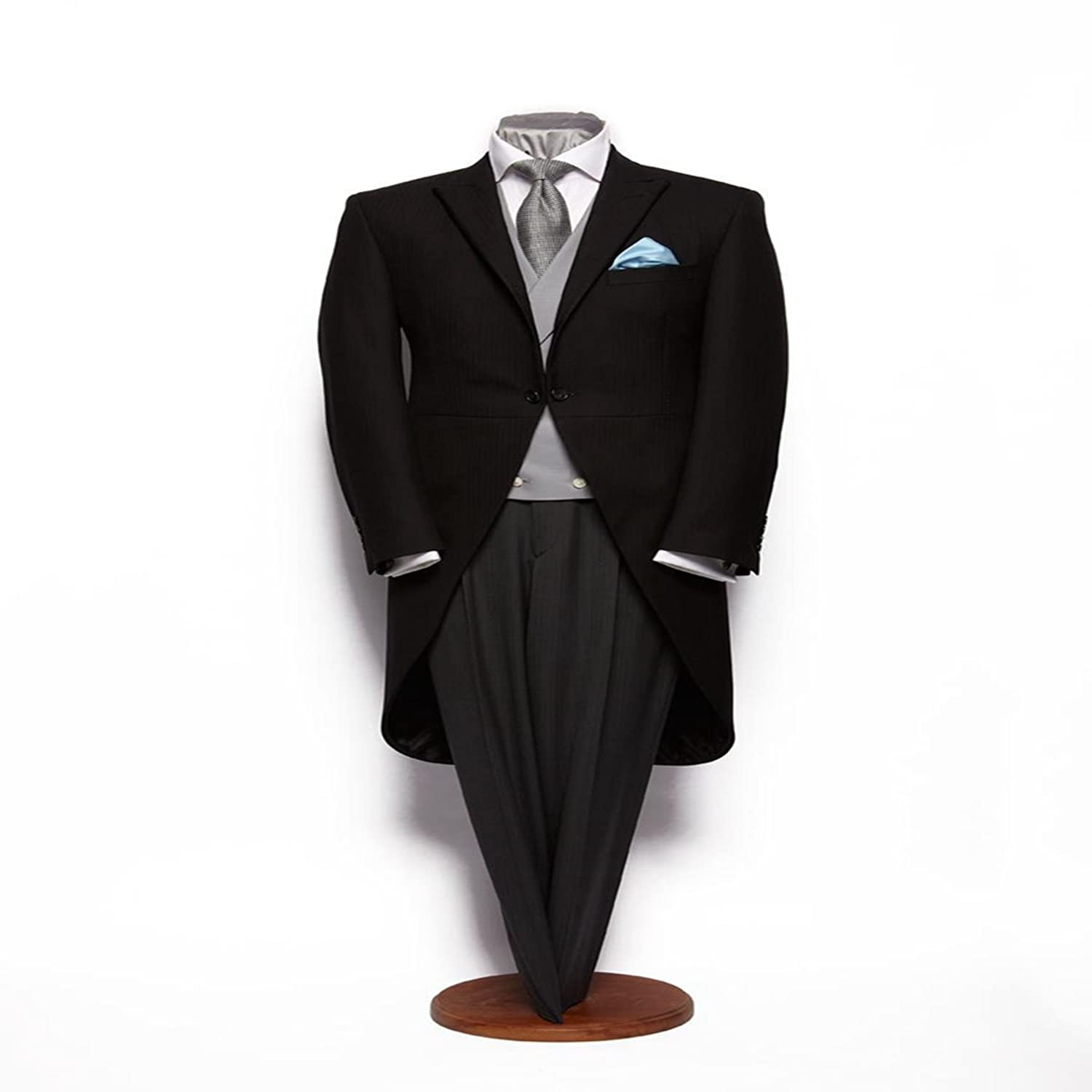 1920s Men's Suits History MLT Mens 3 Pieces Morning Tuxedo Groom Wedding Suits $319.99 AT vintagedancer.com