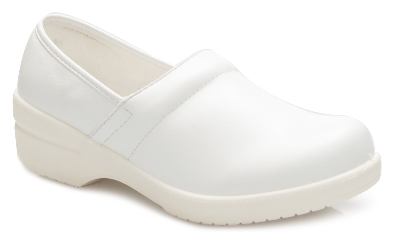 OLIVIA K Women's Relaxed Fit Easy Slip On Resistant Office Work School Uniform Flatform Shoes
