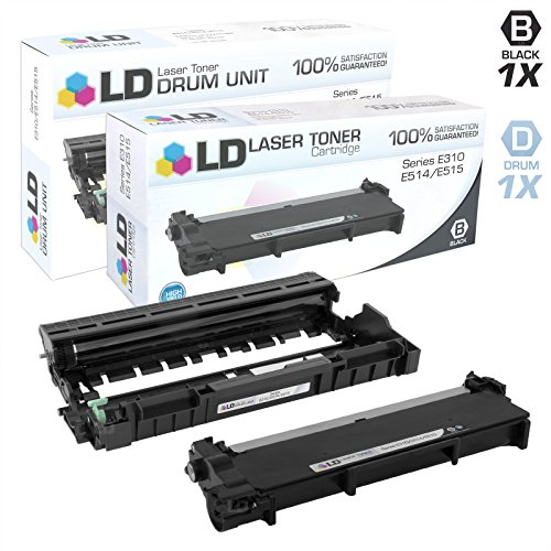 LD Compatible Toner & Drum Cartridge Replacements for Dell 593-BBKD & 593-BBKE (1 Toner, 1 Drum, 2-Pack)