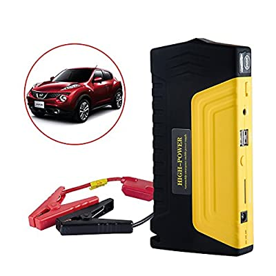 Noza Tec 16800mAh Car Jump Starter 2 USB 600A Peak Current Portable Charger Power Bank with Advanced Safety Protection and Built-In LED Flashlight for Petrol Diesel Car and Motorcycles