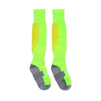 Calcetines de Fútbol Hombres Fútbol Deporte Rodilla Alta Antideslizante Calcetines de Tubo Grueso 3 Colores(