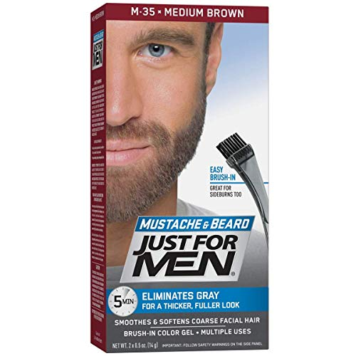 Color Mustache Beard Medium Brown product image