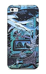 Premium Protection Anime Original Under Fish Magical Original Case Cover For Iphone 5c- Retail Packaging
