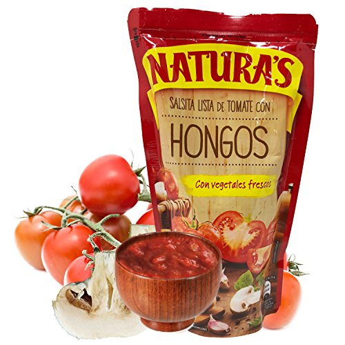 Amazon.com : Mushroom Sauce - Naturas Salsa De Hongos y Tomate| 100% Plant Based | Ready To Use| Made With Only With Fresh Tomatoes |No Preservative, ...