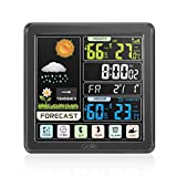 GBlife Weather Stations Wireless Indoor Outdoor, Digital Thermometer with Remote Sensor, Weather Forecast