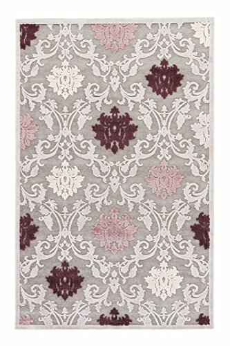 Jaipur Living Glamourous Damask Gray/Silver Area Rug (2' X 3') from Jaipur Living