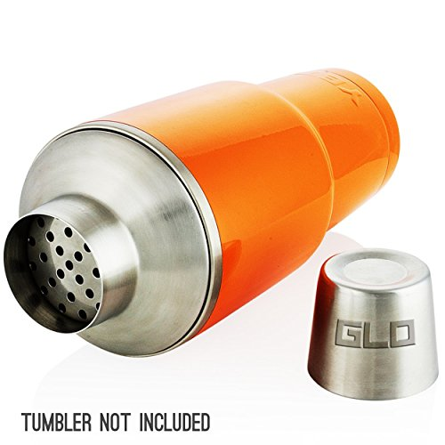 Grab Life Outdoors 30 Oz Tumbler Cocktail Shaker Strainer Lid - Fits YETI Rambler, RTIC, Ozark Trail, SIC Cups & Many More - Convert Your Insulated 30 Oz Tumbler Into A Cocktail Shaker