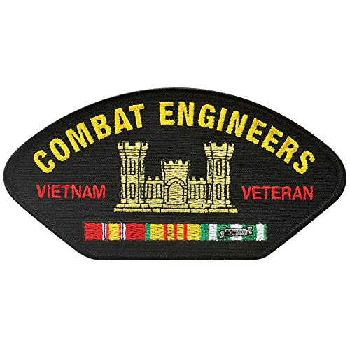 (Medals of America Combat Engineers Vietnam Veteran Hat Patch One Size Black)
