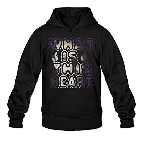 CEDAEI Men's What Is This Heart How To Dress Well Hoodies Sweatshirt Without Kangaroo Pocket Small Black
