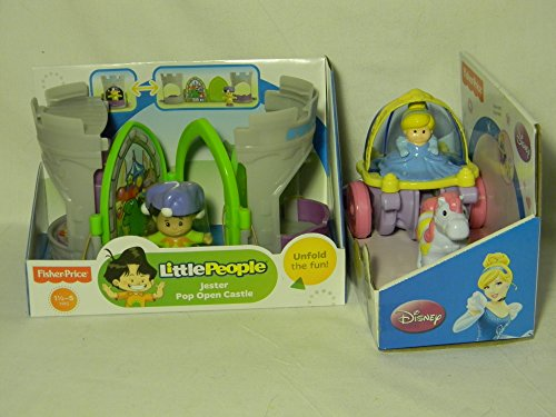 Fisher Price Little People Jester and Disney Cinderella Coach