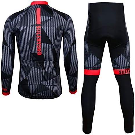 WULAU Maillot de Ciclismo Hombre Mangas Largas Ropa para Bicicleta 3D Cojín Conjunto Bici de Montaña Chaqueta+Pantalones Culote de Ciclista Largo Transpirable para Verano, S-4XL: Amazon.es: Deportes y aire libre