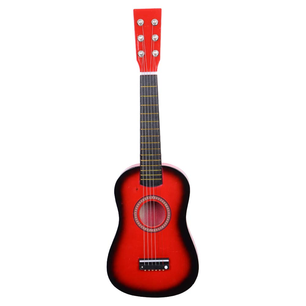Beginner Acoustic Guitar with Pick and Steel String, 23 inch Mini 6-String Acoustic Guitar Bundle Kit Stringed Musical Instrument Bundle for Students Children Adult (US STOCK) (23inch, Red) Chirde