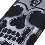 MYBAT Hybrid Skullcap Protector Cover Case for LG Optimus F6 D500/MS500 – Retail Packaging – Gun Metal Plating/Black