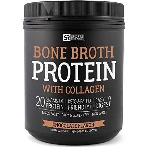 NEW! Bone Broth Protein with Collagen (Chocolate Flavor) ~ Paleo & Keto...