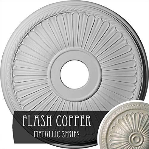 Ekena Millwork CM20BE1FCS Berkshire Ceiling Medallion, Flash Copper
