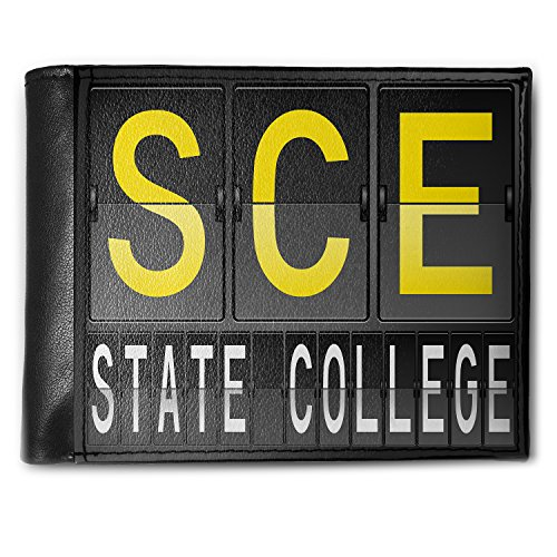 State Wallet College Bi Fold (Wallet SCE Airport Code for State College Men's Bifold ID Case - Neonblond)