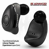 True Wireless Earbuds Headphones – Superior 3D Stereo Sound 5.0 Mini in Ear Bluetooth Earbuds, 18Hr Play Time, SweatProof Sports Earphones Headset, Built in Microphone & Dual Speakers Phone Calls by UpperFit