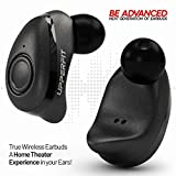 True Wireless Earbuds Headphones – Superior 3D Stereo Sound 5.0 Mini in Ear Bluetooth Earbuds, 18Hr Play Time, SweatProof Sports Earphones Headset, Built in Microphone & Dual Speakers for Phone Calls