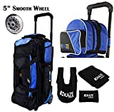 Cheap KAZE SPORTS 3 Ball Bowling Roller with Color Match Add On Spare Tote and Accessories Pack (Blue)