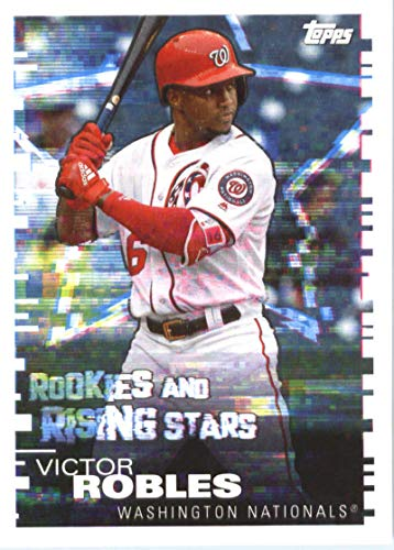 (2019 Topps MLB Stickers Baseball #220 Victor Robles/Evan Longoria Washington Nationals/San Francisco Giants Trading Card Sized Album Sticker with Collectible Card Back)