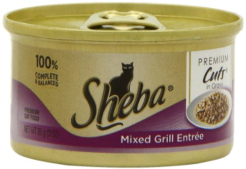 Sheba Premium Cut's Entree Cat Food, Mixed Grill, 3.0 Ounce (Pack of 24), My Pet Supplies