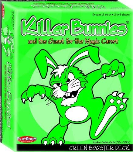 Playroom Entertainment PRE44100 Killer Bunnies Green Booster PLE44100