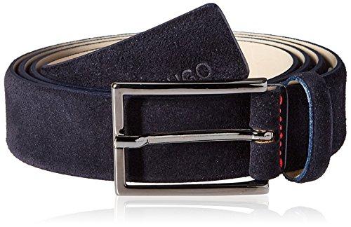 Suede Designer Belt (Hugo Hugo Boss Men's Gavrilo Suede Leather Belt, Dark Blue,)