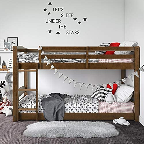 Dorel Living Phoenix Solid Wood Twin over Twin Floor Bunk Bed