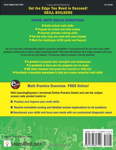Amazon.com: 8th Grade Math Review (9781576857120): LearningExpress ...