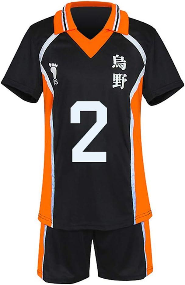 MXLY 2 Piece Outfits Anime Haikyuu Karasuno High School T-Shirt Short Pants Set Unisex Gym Dance Sports Trendy Fashion Summer Hot Short Running -Yamaguchi Tadashi-XL