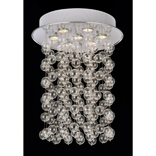 Floating Glass Bubble 7-light Flushmount Ceiling Chandelier (Age Bubbles Modern)