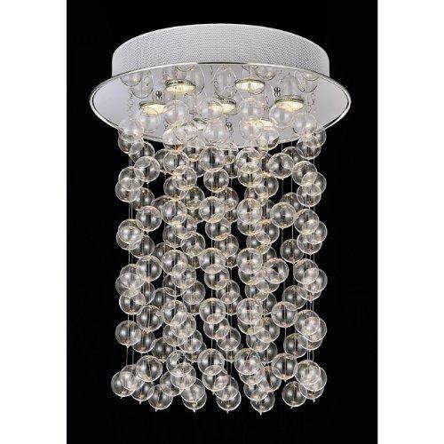 Floating Glass Bubble 7-light Flushmount Ceiling Chandelier (Age Modern Bubbles)