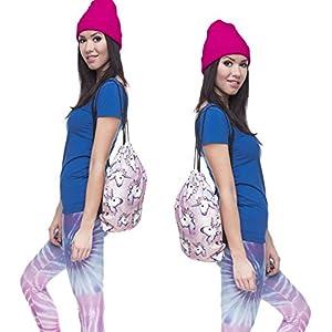 Ababalaya 3D Print Drawstring Backpack Rucksack Shoulder Bags Gym Bag, unicorn 1