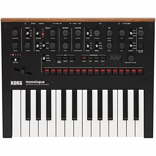 Korg Monologue Monophonic Analog Synthesizer with Presets-Black (MONOLOGUEBK)