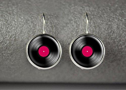 (Vinyl record earrings, vinyl record jewelry, vinyl record accessories (3))