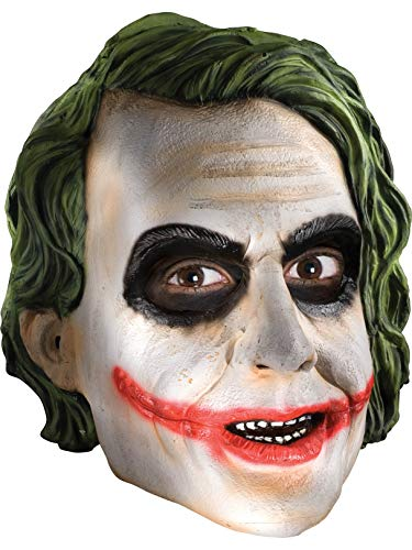 Rubie's Men's Batman The Dark Knight The Joker Adult 3/4 Mask, Multi, One -