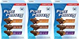 Pure Protein Bar Variety Pack (6 Chocolate Peanut Butter, 6 Chewy Chocolate Chip, 6 Chocolate Deluxe), 4 Pack (18 Count of 1.76 Oz bars)