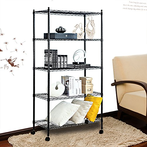 Kitchen Storage Units On Wheels: Finnhomy 5 Tier Wire Shelving Unit 5 Shelves Storage Rack