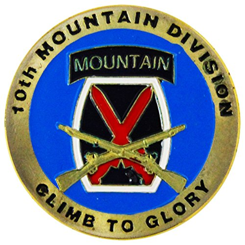 Art Crafter USA Army 10th Mountain Division Challenge Coin Badge A008J